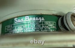 Vintage Seabreeze Electric Floor Fan 20 Turquoise Mid Century Industrial NICE