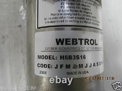 WEBTROL H5B3S16 STAINLESS PUMP with EMERSON MOTOR 1/2 HP USED