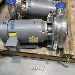Waukesha 2085 Stainless Steel Centrifugal Pump 4 X 3 In/out 5hp