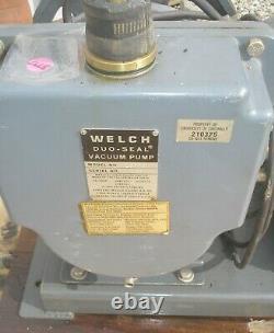 Welch Duo Seal Vacuum Pump Model 1397R Industrial w GE 1 HP Electric Motor