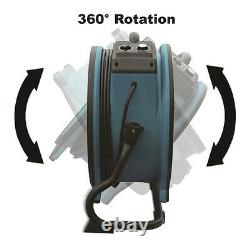 XPOWER X-34AR 1/4 HP 115V Motor Industrial Axial Fan Floor Air Mover w Outlets