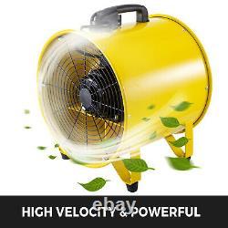 16'' Extractor Fan Blower 2 Speed Adjustable Industrial Basement Axial Motor