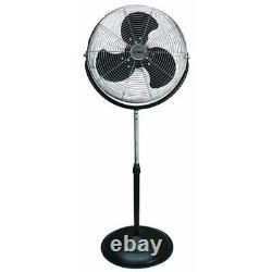 18 Pouces Industriel Grade Haute Velocity Pedestal Fan Heavy Duty Outdoor All Metal