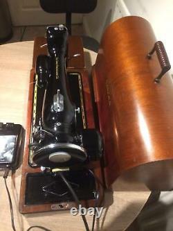 1936 Vintage Singer 201k2 Electric Potted Motor Machine À Coudre