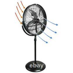 20 Dans. Ventilateur Industriel Réglable De Tambour De Piédestal De Hauteur Avec La Vie D'inclinaison De 360 Degrés