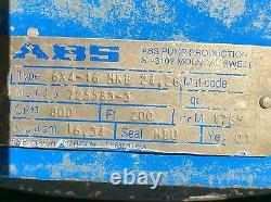 Abs 6 X 4 16 Pompe Mkb 24,26 Gpm 800 RPM 1765 Fl 200 Imp. Dia. 16.34 Acier Inoxydable