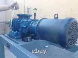 Aerzen Gma 11.4v-00 Vacuum Booster Blower Pump System Avec Moteur Et Bobine