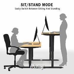 Aimezo Électrique Permanent Bureau Cadre Hauteur Ajustable Double Moteur Stand Up Bureau