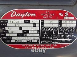Alcatel Vacuum Pump Ty. Zm2004 N° 22787 Avec Dayton Motor 1/2hp 1725rpm S2670x