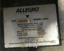 Allegro Industries 9503 Antidéflagrants Ventilateur, Électrique 3/4 HP Moteur