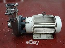 Ampco Pompe Centrifuge 3 X 3 Dch2 3500rpm 7.75imp Withbaldor Motor Jmm41061 20hp