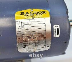 Baldor 1140rpm Moteur De Moulin À Tampon Industriel 115 / 230v 1ph Spl-hp 56yz