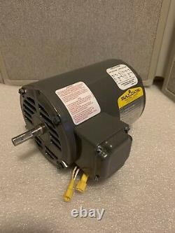 Baldor Industrial Single Phase Electric Motor 1/2 HP 3450 RPM 115/208-230 V
