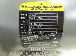 Baldor Vm3556t Moteur Industriel Électrique 1hp 1140rpm 460v 3ph 145tc Fr 7/8sh