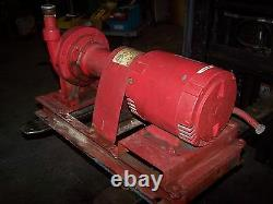 Bell & Gosett 5 HP Centrifuge Pompe À Eau 1-1 / 2 X 1-1 / 4 3450 RPM 208-230 / 460v