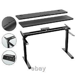 Bureau À Domicile Électrique Debout Bureau Hauteur Réglable Stand Up Desk Avec Split Top
