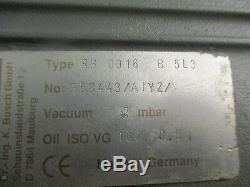 Busch Rb 0016 B 5l3 Étape Simple Pompe Rotative Avec Katt Fn80 Moteur