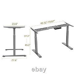 Cadre De Bureau Debout Électrique Double Motor Height Bureau Réglable Stand Up Desk