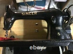 Chanteur 96-21 Machine À Coudre Industrielle Avec Moteur Et Table Locale Seulement Pickup