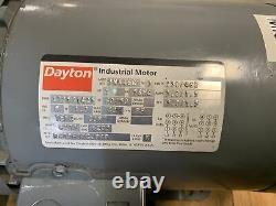 Dayton 3n446c 3 Phase 1hp Electric Industrial Motor 56hc Frame 1725/1425 RPM