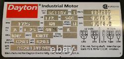 Dayton 5k110v Moteur Industriel Nouveau 1⁄2 HP
