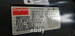 Dayton Industrial Electric Motor HP 2 Mod No# 3n486d Nouveau 3ph 1725 RPM 1 Ph 56h