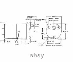 Dayton Modèle 1lpn8 Gear Motor 2 RPM 1/20 Ch 115v (3m125)
