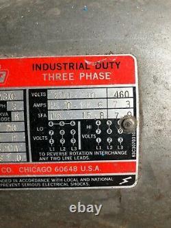 Dayton Tri-volt Moteur Électrique Industriel Duty 5hp Utilisé