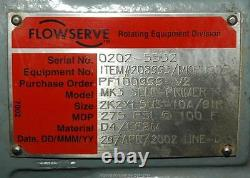 Durco Flowerervem Mk3 Centrifugal Pompe 2k2x1.5 Cf8m Cast En Stateur Inoxydable Nos