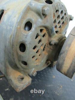 Énorme Antique Vintage Century 1 HP Electric Motor Repulsion Industrial Steampunk