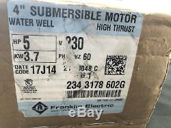Franklin 2343178602g 5hp 4 Submersible Bien Moteur 230v Nouveau Livraison Gratuite