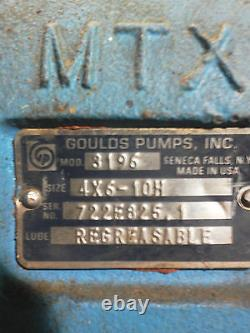 Goulds Pump Model 3196mtx, Taille 4x6-10h. Pompe Centrifuge Industrielle