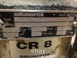 Grundfos Cr8-30 Pompe Et Moteur 3 Ch 3 Phase 42 Gpm, 230 Psi