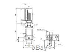 Grundfos Crne5-4 Pompe Centrifuge Avec Vfd Inoxydable 316 208v 3ph 1.5hp
