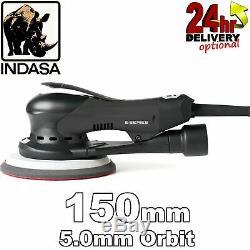 Indasa Série E 150mm Électrique Orbitale Aléatoire Sander Brushless 5.0mm Orbit