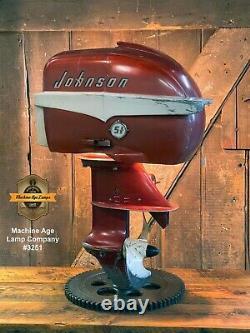 Industriel Machine Age Lampe Johnson Bateau Moteur Marine Hors-bord Hors-bord Seahorse