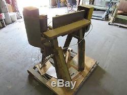 Industrielle Edge Sander 6x 80 Avec Moteur General Electric Bon 2hp