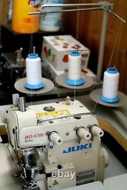 Juki Mo-6704s Machine À Coudre 3 Fils Industriels Avec Table Et Moteur