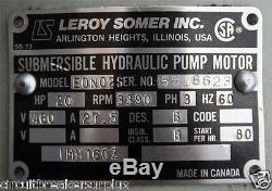 Leroy Somer Sndan B120 R46 Pompe Submersible Moteur Hydraulique Sndanb120r46
