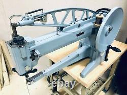 Machine À Coudre Adler 30-10 Réparation De Chaussures En Cuir Long Arm Moteur Cordonnier Industriel