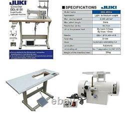 Machine À Coudre Industrielle Juki Ddl-8100 Servomoteur De Serrure + Table/foot/lamp