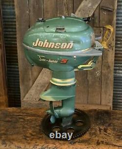 Machine Industrielle Age Lamp Johnson Boat Motor Nautical Marine Outboard Seahorse