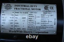 Moteur À Fractionnement Industriel Dans Le Monde Électrique T12-18-56cb, 1/2hp Nos Singl