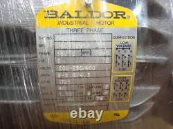 Nouveau Baldor Cm3661t 3hp 3 Phase Industrial Electric Motor