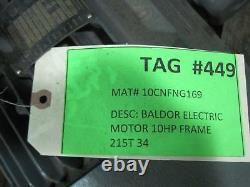 Nouveau Baldor M7174t Industrial Electric Motor 10hp 3525rpm 230/460 V Fr 215t
