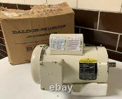 Nouveau! Baldor Vl3514t Moteur Électrique Industriel 1-1/2 HP Cadre 145tc 115/230v 1725
