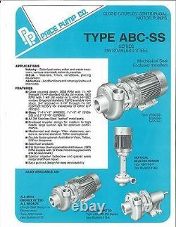 Pompe À Prix, A100ss, 3 Hp, 50 Gpm, Pompe Centrifuge En Acier Inoxydable