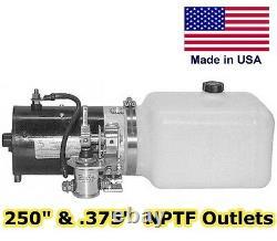 Pompe Hydraulique D'unité D'alimentation De Dc, Moteur, Réservoir Poly 3 Dégagement De Voie. 86 Gal