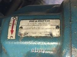 Pompe Hydraulique Rexroth, A10v16dr1rs4, Avec Moteur Leeson Ac De 1,5 Ch, Utilisé