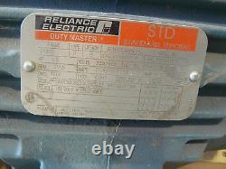 Reliance Electric P211g1001l High Effeciency Industrial Motor 7.5hp 3505 RPM Nouveau